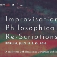 Improvisation: Philosophical Re-Scriptions